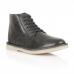 Frank Wright - Black 'Wall' smooth leather boots