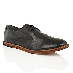 Frank Wright - Black 'Busby' mens lace up derby shoes