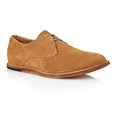 Frank Wright - Butterscotch suede 'Busby' mens derby shoes