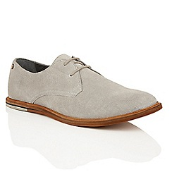 Frank Wright - Grey Suede 'Busby' mens lace up derby shoes