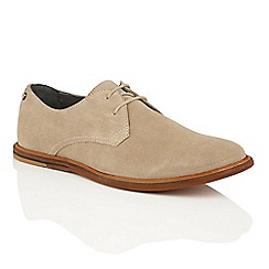 Frank Wright - Sand Suede 'Busby' mens lace up derby shoes