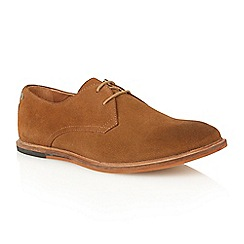 Frank Wright - Bison suede 'Busby' derby shoes