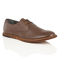 Frank Wright - Brown Leather 'Busby' mens lace up derby shoes