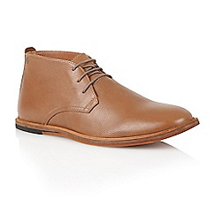 Frank Wright - Rust leather 'Strachan' mens chukka boots