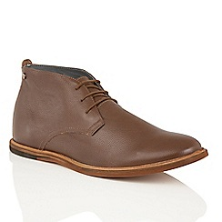 Frank Wright - Brown Leather 'Strachan' chukka boots