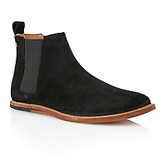 Frank Wright - Black suede 'Burns' mens chelsea boots