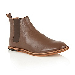 Frank Wright - Brown leather 'Burns' chelsea boots