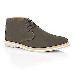 Frank Wright - Graphite canvas 'Barrow' mens derby boots