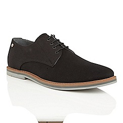 Frank Wright - Black canvas 'Telford' lace up derby shoes