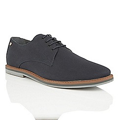 Frank Wright - Navy Canvas 'Telford' mens derby shoes
