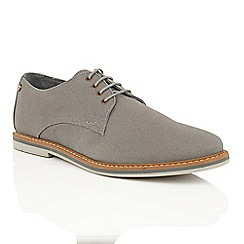 Frank Wright - Grey Canvas 'Telford' lace up derby shoes
