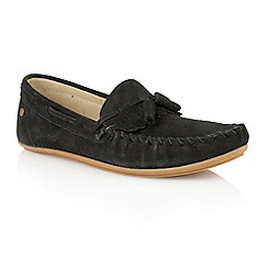 Frank Wright - Black suede 'Nevis' mens loafers
