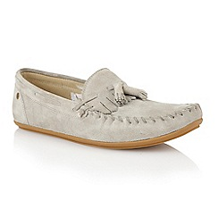 Frank Wright - Light grey suede 'Nevis' mens loafers