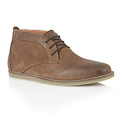 Frank Wright - Brown cow oxide leather 'Gee' mens chukka boots