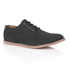 Frank Wright - Black canvas 'Danza' mens casual shoes