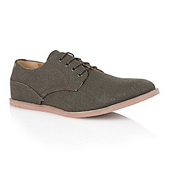 Frank Wright - Graphite canvas 'Danza' mens casual shoes