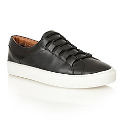 Frank Wright - Black/white 'Mitch' lace-up sneakers