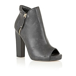 Dolcis - Black 'Berlin' peep toe ankle boots