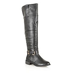 Dolcis - Black 'Naples' knee high riding boots
