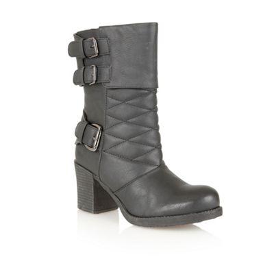 Dolcis Black ´Verona´ mid calf boots - . -