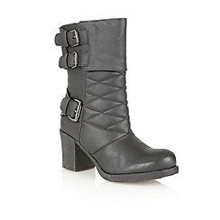 Dolcis - Black 'Verona' mid calf boots