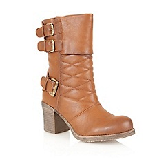 Dolcis - Tan 'Verona' mid calf boots