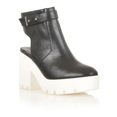 Dolcis Black/white ´Cologne´ chunky ankle boots - . -