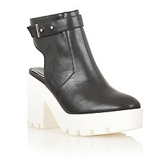 Dolcis - Black/white 'Cologne' chunky ankle boots