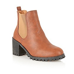Dolcis - Tan 'Florence' chelsea ankle boots