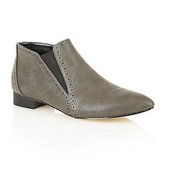 Dolcis - Grey 'Yvette' heeled ankle boots