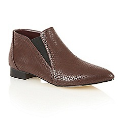 Dolcis - Burgundy 'Yvonne' heeled ankle boots