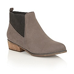 Dolcis - Grey 'Janet' heeled ankle boots