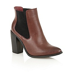 Dolcis - Burgundy 'Lana' heeled ankle boots