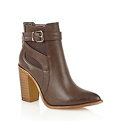 Dolcis - Brown 'Lelia' heeled ankle boots