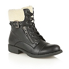 Dolcis - Black 'Snow' heeled ankle boots