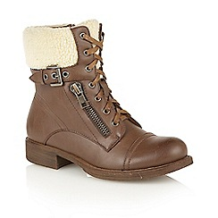 Dolcis - Tan 'Snow' heeled ankle boots