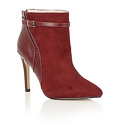 Dolcis - Burgundy 'Yazmin' ankle boots