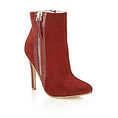 Dolcis - Burgundy 'Sally' high heeled ankle boots