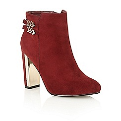 Dolcis - Burgundy 'Helina' heeled ankle boots