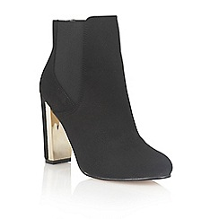 Dolcis - Black 'Hayley' heeled ankle boots