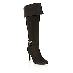 Dolcis - Black 'Kortney' high heeled knee length boots