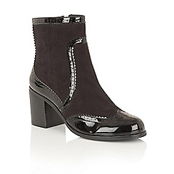 Dolcis - Black Patent 'Jazz' ankle boots