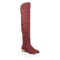 Dolcis - Burgundy 'Katie' over the knee boots