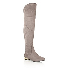 Dolcis - Grey 'Katie' over the knee boots