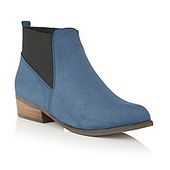 Dolcis - Blue 'Jessie' heeled ankle boots