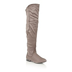 Dolcis - Grey 'Karla' over the knee boots
