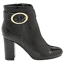 Dolcis - Black patent 'Fortune' ladies high heeled boots