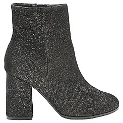 Dolcis - Black glitter 'Freya' high heeled ankle boots