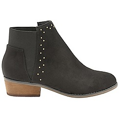 Dolcis - Black 'Wendy' ladies block heeled ankle boots