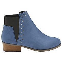 Dolcis - Blue 'Wendy' ladies block heeled ankle boots